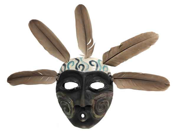 Spiral Shadow Spirit Mask - [Front] - Stock #: LP295.