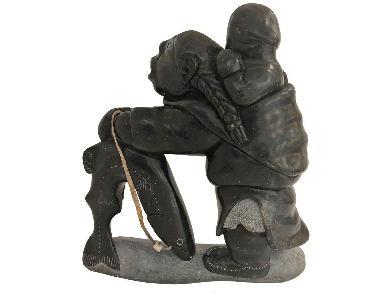 Aculiak - Mother & Child Fishing - [Back] - Stock #: SH5